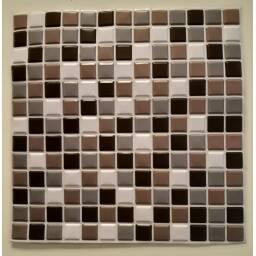 Revestimiento 3d mosaico gris autoadhesivo - Simil ceramica