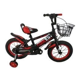 """Bicicleta de niños Coolest roja 12"""" - canasto y rueditas"""