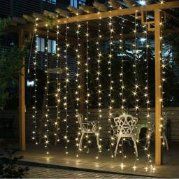 Lluvia cortina De Luces Led 2 x 2m fijas