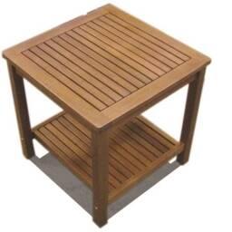 Mesa de apoyo de 2 niveles en madera de acacia