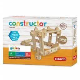 Juego Constructor Camion De Madera - Puzzle 3D 56 Piezas