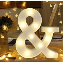 Letras y numeros LED - SIMBOLO &