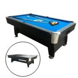 Mesa de pool con tapa para mesa - AZUL