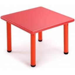 Mesa cuadrada para niños infantil Roja