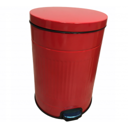 Tacho cesto de basura 20 litros diseño retro con pedal rojo