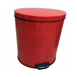 tacho cesto de basura 5 litros diseño retro con pedal