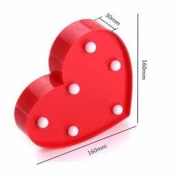 Letras y numeros LED - Corazón Rojo