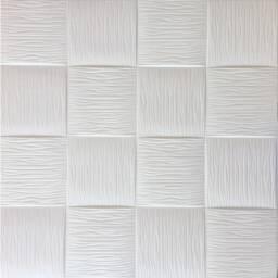 Revestimiento autodhesivo 3d - Cuadrados blancos