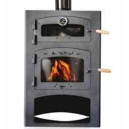 Calefactor a leña Qutral 19 KW con horno