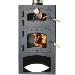Calefactor a leña Qutral 12 KW con horno