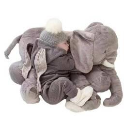 Almohadon elefante gris - peluche almohada de apego