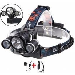 Linterna de cabeza recargable T6 - 3 focos minero