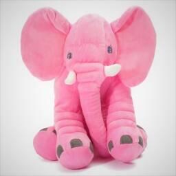 Almohadon elefante rosado - peluche almohada de apego