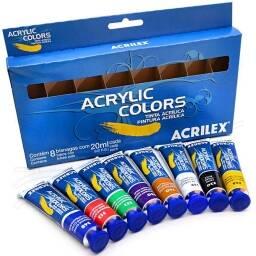 Set de pintura acrilica (8 unidades)