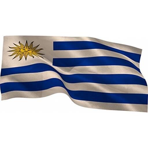 Bandera de Uruguay 90 x 60 cm - Mundial futbol
