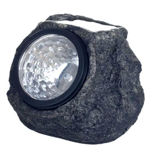 Lampara solar roca - luces LED piedra imitacion