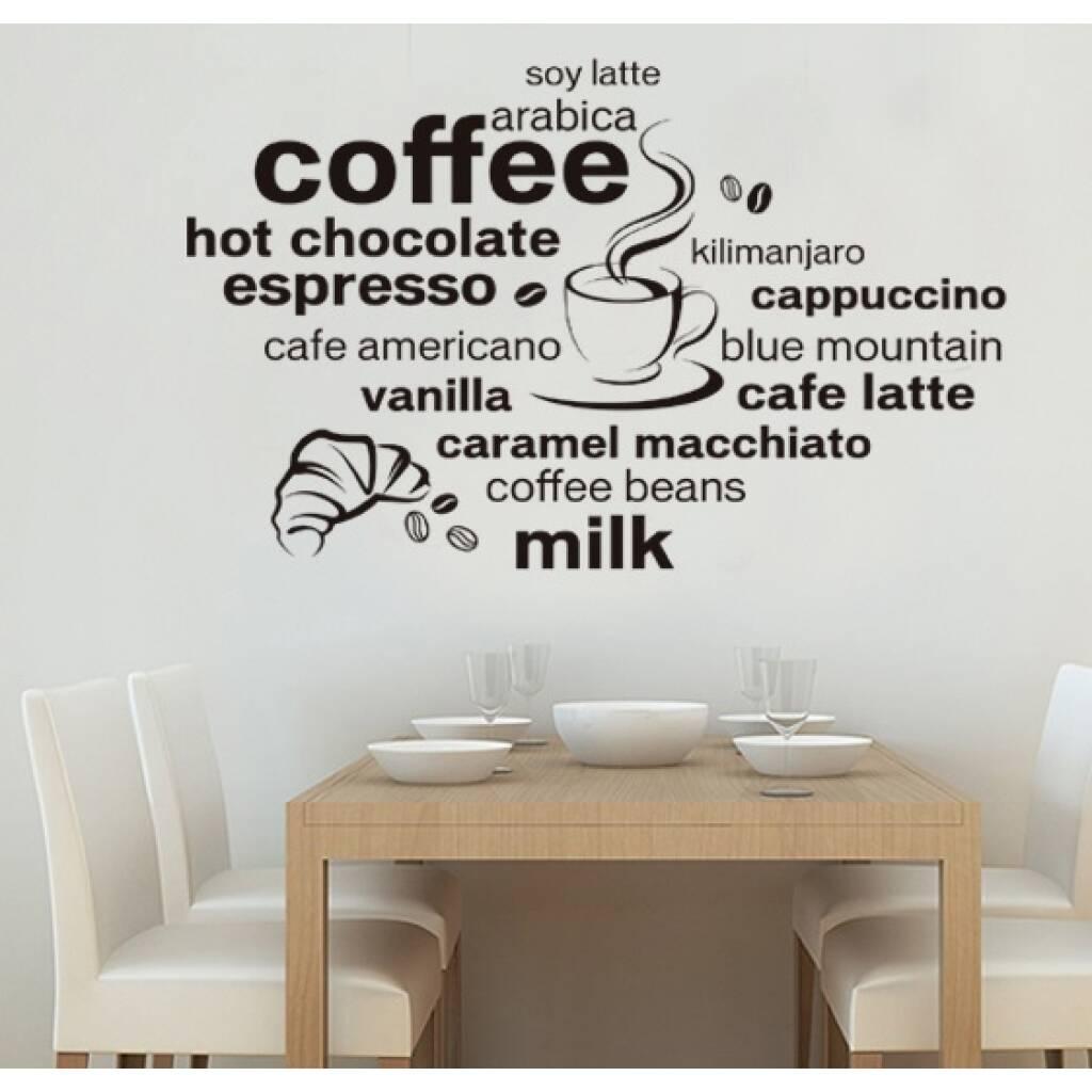 Vinilo Decorativo Cafe Papel Tapiz Adhesivo Pared Hogar