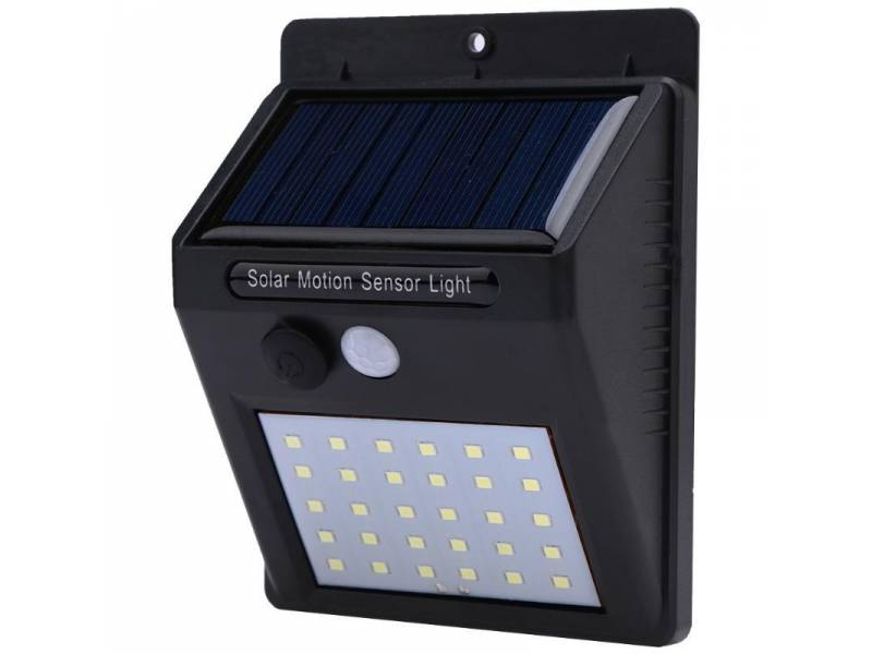 Lampara solar de pared potente - sensor de movimiento